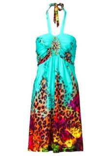 Платье с декоративными аппликациями (ярко-розовый) Bonprix