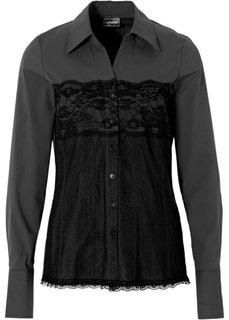 Блуза (черный) Bonprix