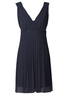 Плиссированное платье (маджента) Bonprix