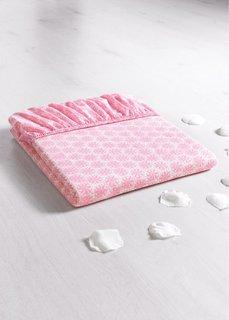 Эластичная простыня-чехол Лоскутки (розовый) Bonprix