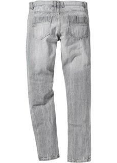 Джинсы Slim Fit Straight, длина (в дюймах) 32 (голубой «потертый») Bonprix