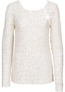 Пуловер с пайетками (лиловая фиалка/золотистый) Bonprix