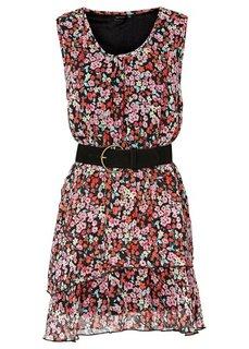 Платье (черный/бирюзовый/белый) Bonprix
