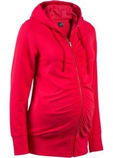 Мода для беременных: трикотажная куртка с драпировками и мягким ворсом внутренней стороны (черный) Bonprix
