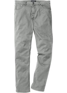 Брюки-стретч Slim Fit Straight в стиле 5 карманов, cредний рост (N) (нейтрально-серый) Bonprix