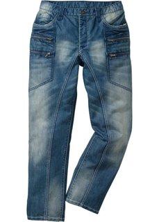Джинсы Regular Fit Straight, длина (в дюймах) 34 (синий деним «потертый») Bonprix