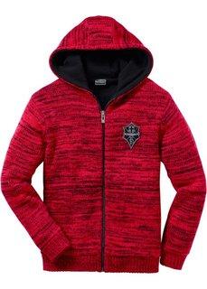 Вязаная куртка (черный меланж) Bonprix