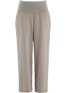 Льняные брюки-кюлоты (белый) Bonprix