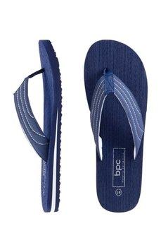 Пантолеты с перемычкой для большого пальца (темно-синий/белый) Bonprix