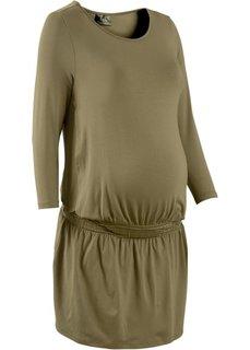 Мода для беременных: трикотажное платье с функцией кормления (темно-синий) Bonprix