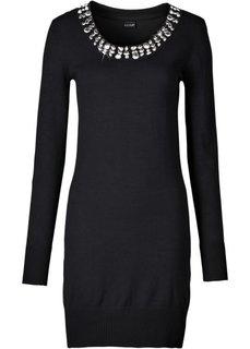 Вязаное платье (серо-синий) Bonprix