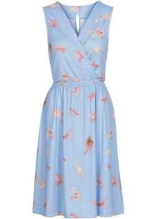 Трикотажное платье с принтом (нежно-коралловый с рисунком) Bonprix