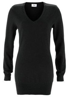 Удлиненный пуловер (темно-синий) Bonprix