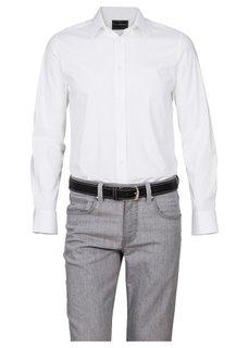Мужской кожаный ремень с декоративными швами (черный) Bonprix