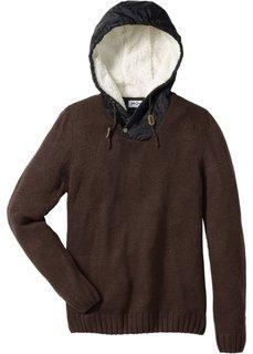 Пуловер Regular Fit с капюшоном (индиго) Bonprix
