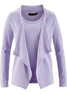 Пуловер с коротким рукавом + кардиган (2 изд.) (омаровый) Bonprix