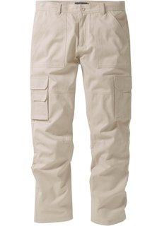 Брюки-карго Regular Fit Straight, низкий + высокий рост (U + S) (черный) Bonprix