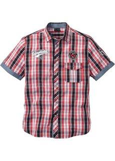 Рубашка Regular Fit (белый/темно-синий в клетку) Bonprix