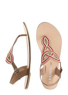 Кожаные сандалии (коньячно-коричневый) Bonprix