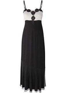 Платье (черный/розовое дерево) Bonprix