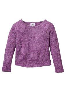 Пуловер свободного покроя, Размеры  116/122-164/170 (антрацитовый меланж/меланж бел) Bonprix