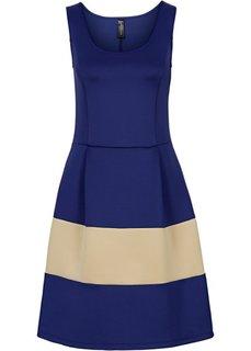 Платье из материала под неопрен (красный/нежно-голубой) Bonprix
