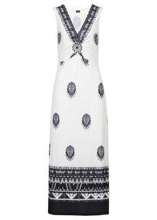 Макси-платье (черный/белый с рисунком) Bonprix