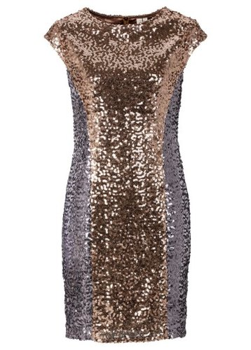 Платье с пайетками (черный/серебристый)