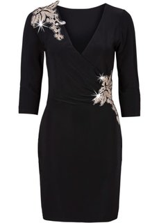 Платье с эффектом запаха (темно-синий) Bonprix