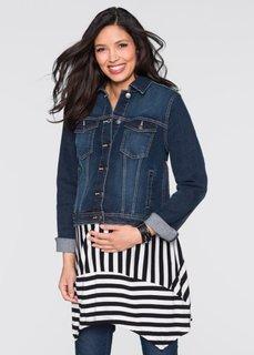 Мода для беременных: джинсовая куртка (темно-синий «потертый») Bonprix