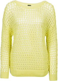 Пуловер (черный меланж) Bonprix