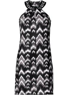 Трикотажное платье (темно-коричневый/экрю) Bonprix