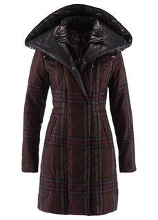 Стеганая куртка (серый в клетку) Bonprix