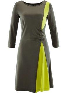 Трикотажное платье (черный/лососевый) Bonprix