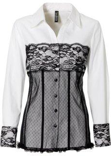 Блуза (антрацитовый/черный) Bonprix