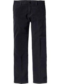 Вельветовые брюки-стретч ЧИНО Regular Fit, низкий + высокий рост (U + S) (черный) Bonprix
