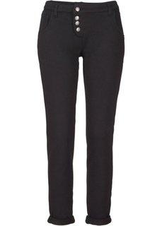Трикотажные брюки с линией пуговиц (светло-серый меланж) Bonprix
