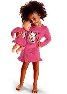 Ночная сорочка + сорочка для куклы (2 изд.) (ярко-розовый) Bonprix