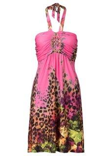 Платье с декоративными аппликациями (бирюзовый) Bonprix