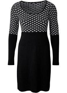 Платье (темно-коричневый/кремовый) Bonprix