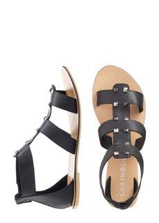 Кожаные сандалии (черный/золотистый) Bonprix