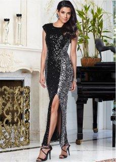 Платье (коньячный/серебристый) Bonprix