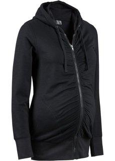 Мода для беременных: трикотажная куртка с драпировками и мягким ворсом внутренней стороны (красный) Bonprix