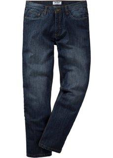Джинсы Regular Fit Straight, низкий + высокий рост (U + S) (синий) Bonprix