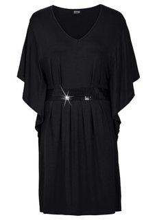 Платье с пайетками (темно-лиловый) Bonprix