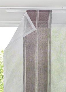 Японская штора Полоски (1 шт.), Шина с лентой велкро (баклажановый) Bonprix