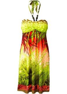Платье (синий/зеленый с принтом) Bonprix