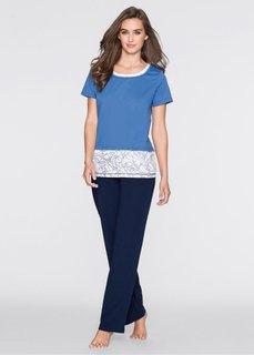 Пижама (синий/белый с рисунком) Bonprix
