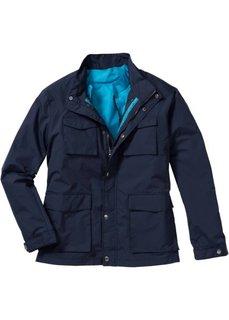Легкая куртка 2 в 1 Regular Fit (серый/капри-синий) Bonprix