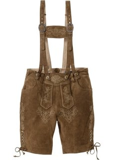 Кожаные шорты Regular Fit (коричневый) Bonprix